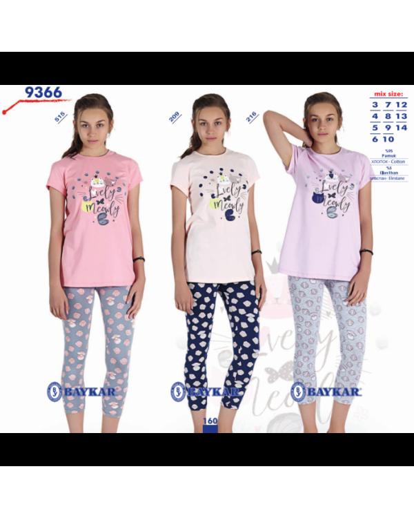 Піжама для дівчат-підлітків Baykar 9366