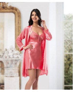 Комплект халат з сорочкою Ahu Lingerie 7068