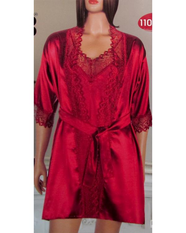 Комплект атласний халат та сорочка DeepSleep