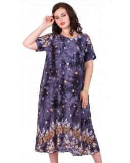 Літнє довге плаття штапель 22011.8