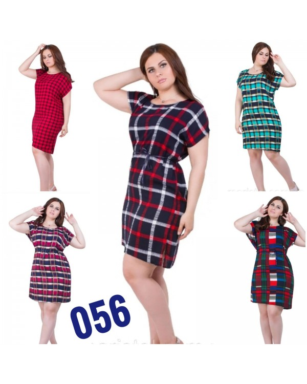 Плаття зі штапелю 056