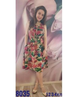 Молодіжне плаття штапель 8035