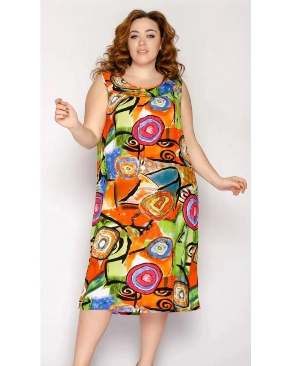 Плаття зі штапелю 032
