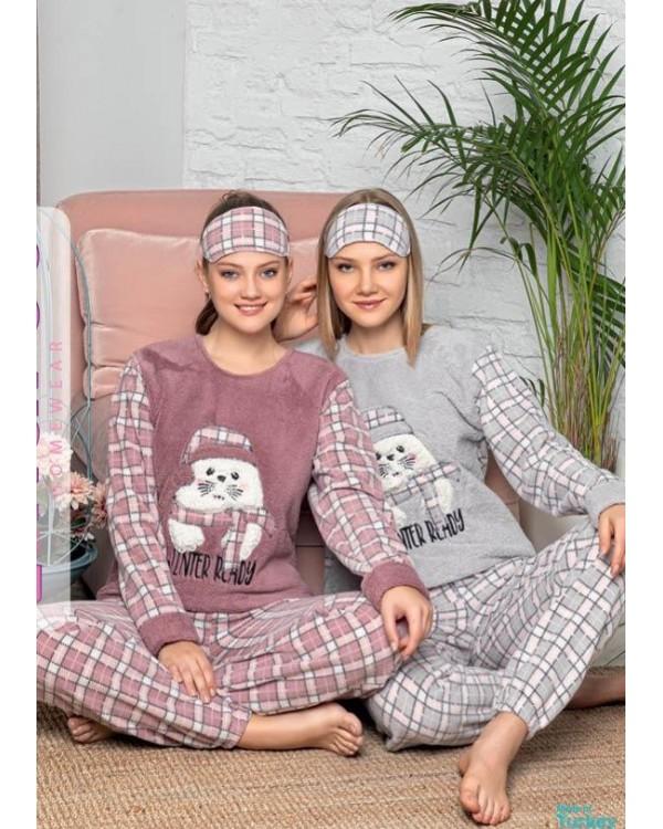 М'яка молодіжна піжама фліс і махра 'Кіт в шапці'