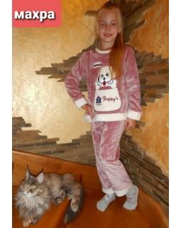 Тепла дитяча махрова піжама 8843-rose