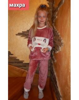 Тепла дитяча махрова піжама 8840-rose