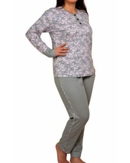 Батальна піжама зі штанами в горошок Nicoletta 30015