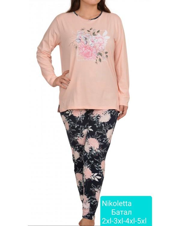 Батальна піжама зі штанами Nicoletta