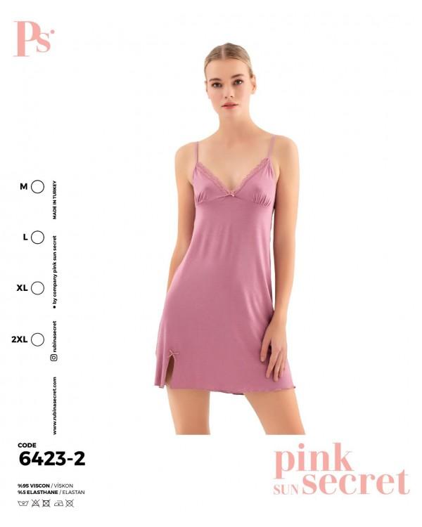 Сорочка на бретелях Pink Secret 6423-2