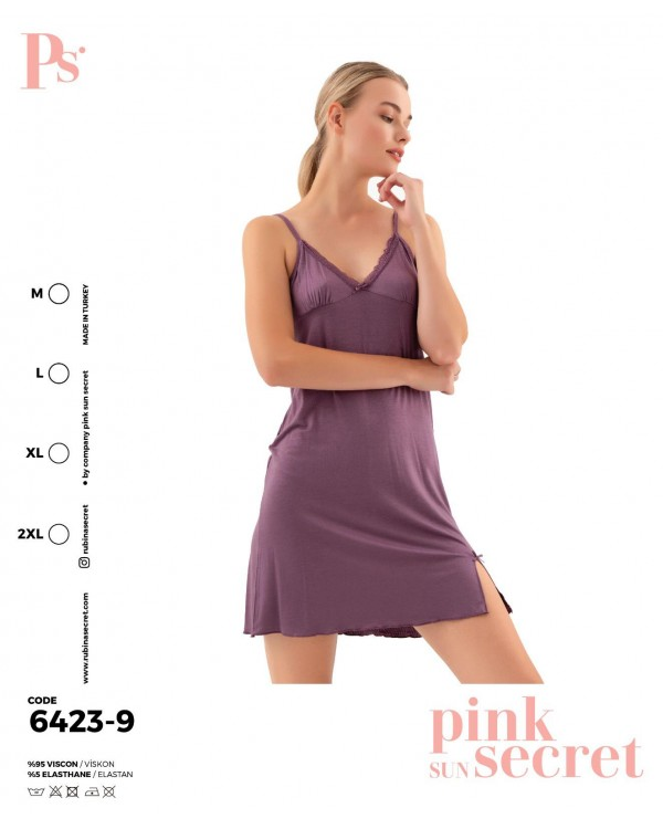 Сорочка на бретелях Pink Secret 6423-9