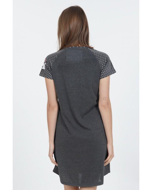 Молодіжна нічна сорочка Vienetta Panda Dark Gray