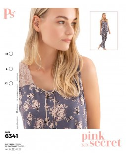 Жіноча піжама з гудзиками і штанами Pink Secret 6341