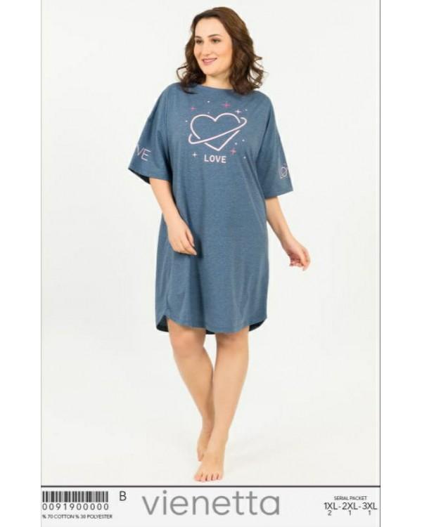 Нічна сорочка Vienetta великого розміру