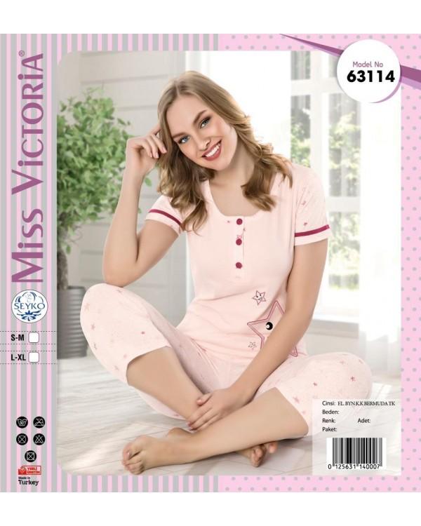 Піжама з бріджами Miss Victoria 63114