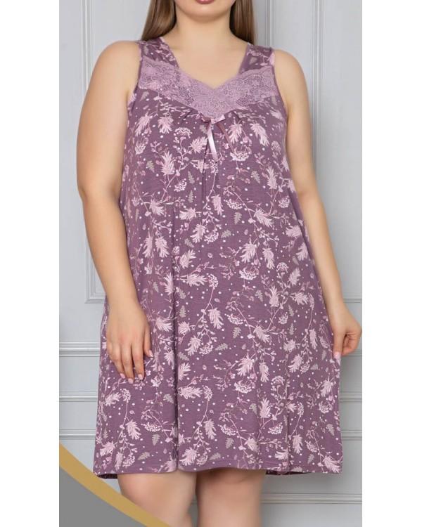 Віскозна сорочка з кружевом Nicoletta 70043