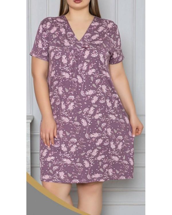 Віскозна сорочка з кружевом Nicoletta 70042
