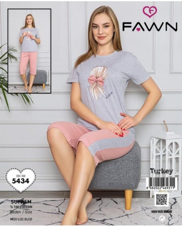 Піжама з капрями  Fawn 5434