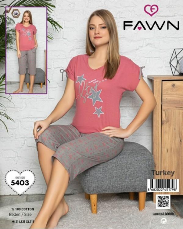 Піжама з капрями  Fawn 5403