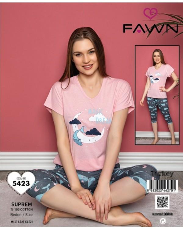 Піжама з капрями  Fawn 5423