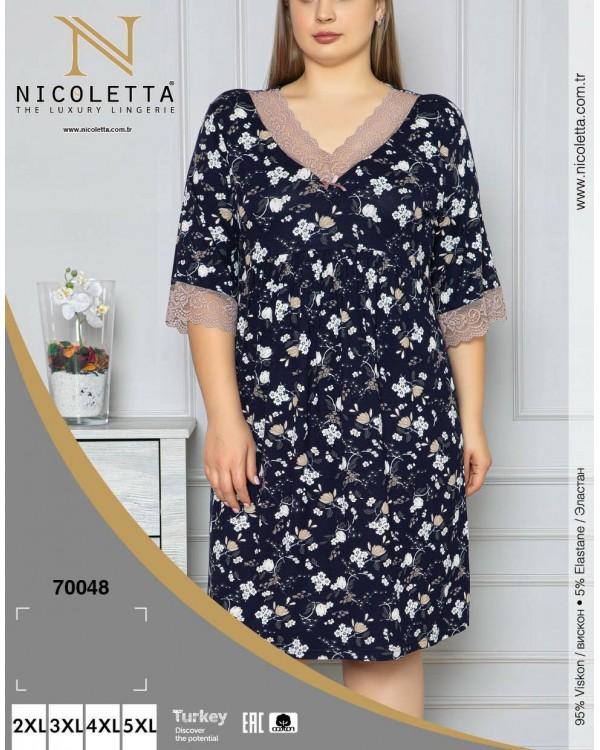 Віскозна сорочка з кружевом Nicoletta 70048