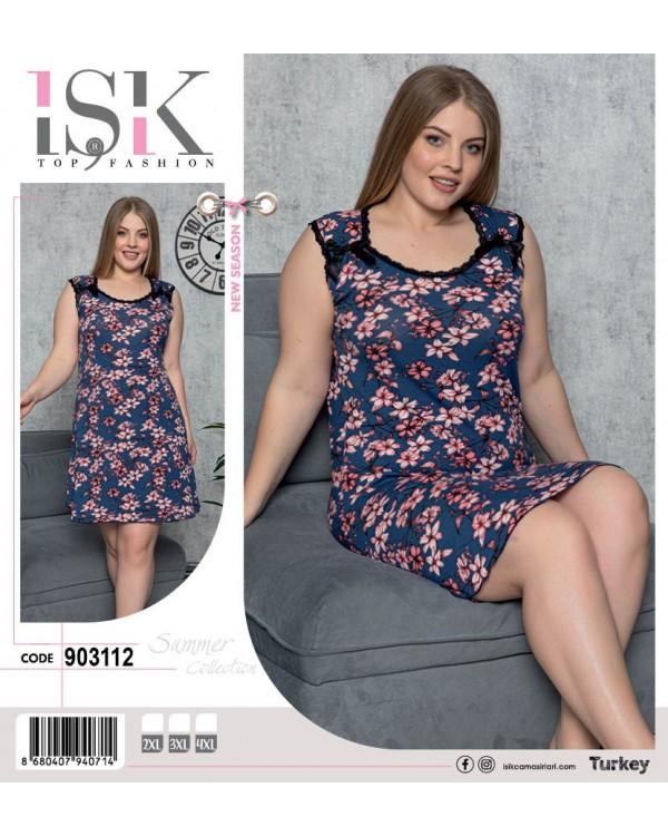 Жіноча сорочка великого розміру ISIK 903112
