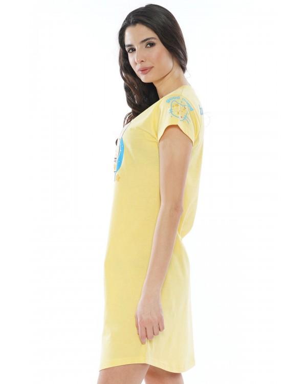 Молодіжна нічна сорочка Vienetta Funny Things Yellow