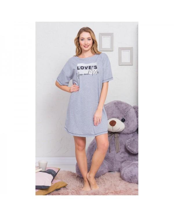Молодіжна нічна сорочка Vienetta You and Me Gray