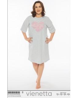 Молодіжна нічна сорочка VienettaHeartGray BSize