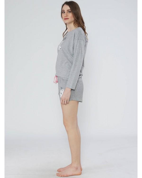 Молодіжна піжама Vienetta Panda Gray