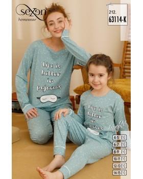 Піжама для дівчат Sexen 63114-K