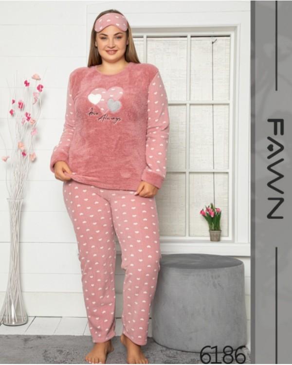 Флісова молодіжна піжама Fawn 6186