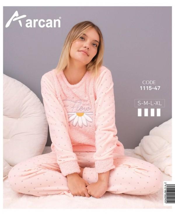 Флісова молодіжна піжама Arcan Flower
