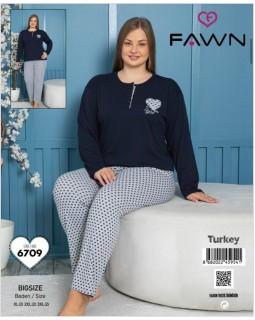 Жіноча піжама FAWN 6709