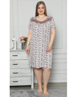 Віскозна сорочка з кружевом Nicoletta 70074