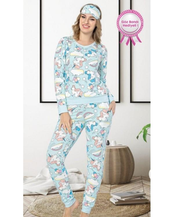 Молодіжна піжама Pijamoni Єдиноріг blue 4630-1