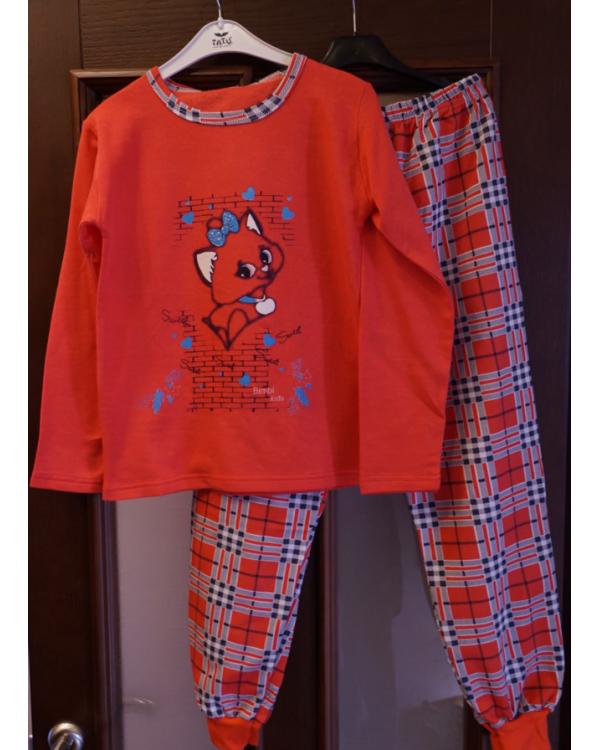 Піжама підліткова на байці для дівчат