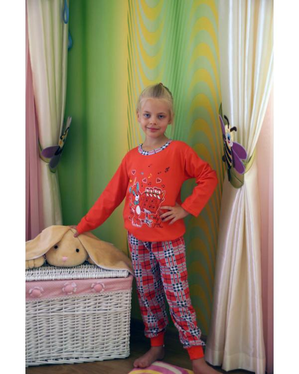 Піжама дитяча на байці для дівчат