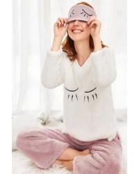 Байкові та флісові піжами та теплі нічні сорочки