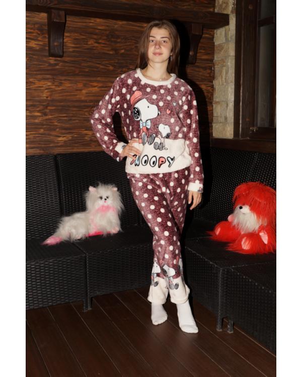 Тепла махрова піжама на зиму 'Snoopy'