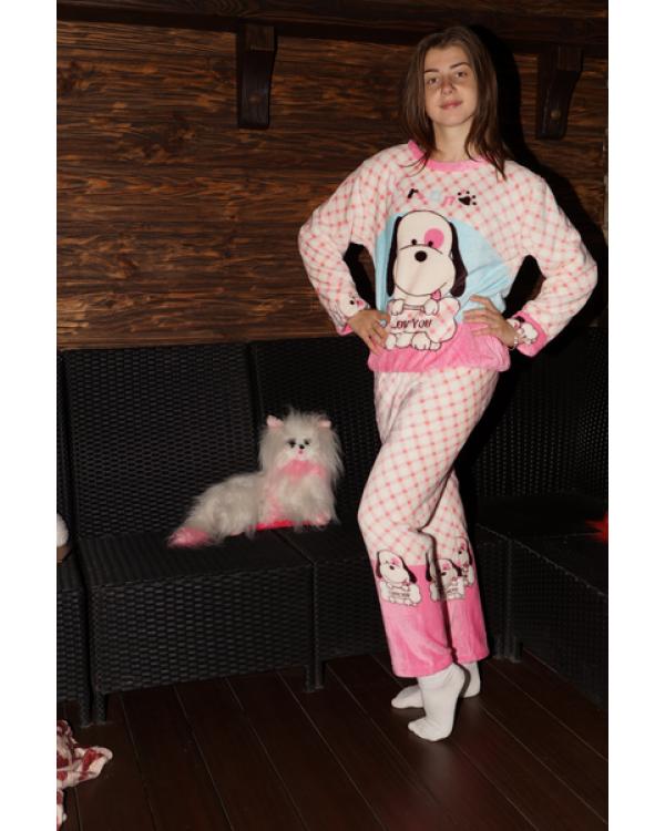 Тепла махрова піжама на зиму 'Dog'