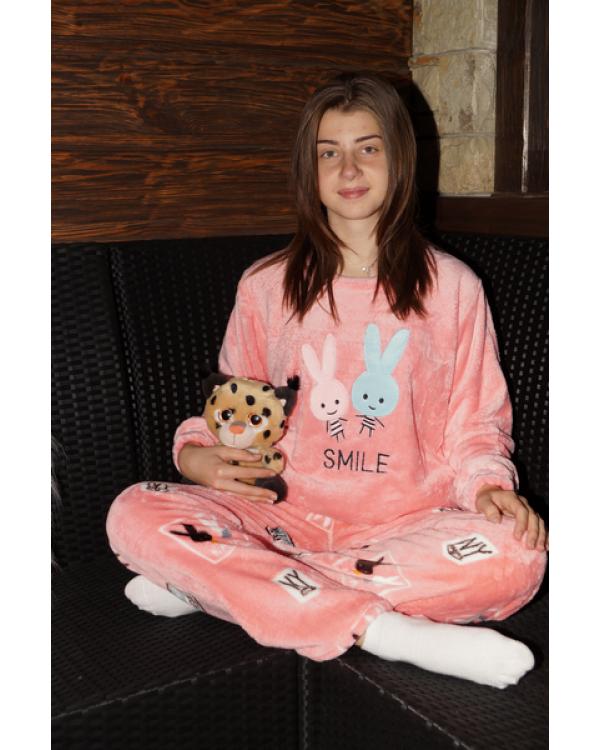 Тепла махрова піжама на зиму 'Smile'