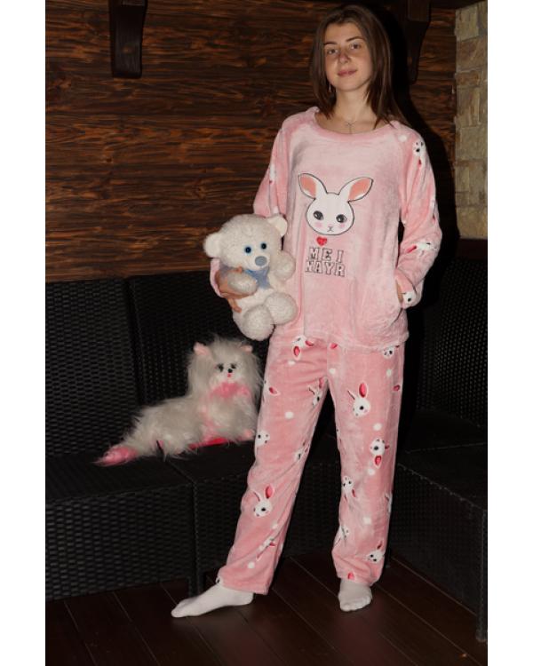 Тепла махрова піжама на зиму 'Bunny'
