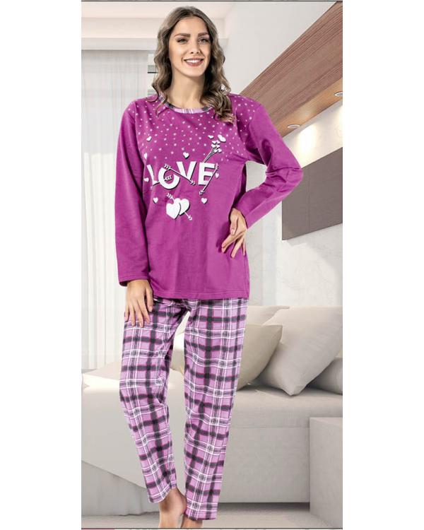 Молодіжна байкова піжама великого розміру 'Love'