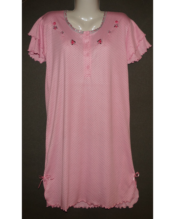 Сорочка жіноча в мілкий горошок