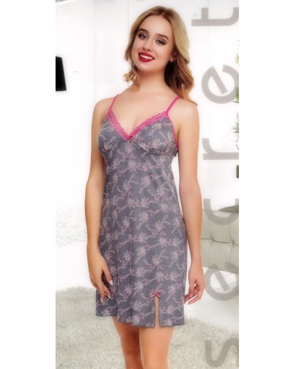 Сорочка на бретелях Pink Secret 0260