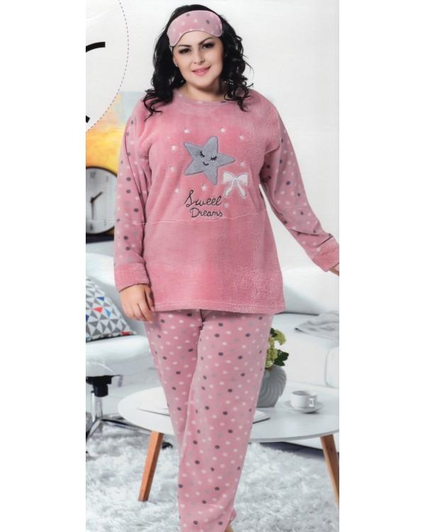 Флісова піжама великих розмірів 'Sweet Dreams'